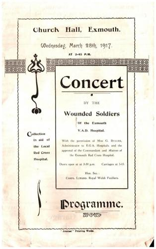 Concert by wounded soldiers of VAD Hospital, Exmouth p1