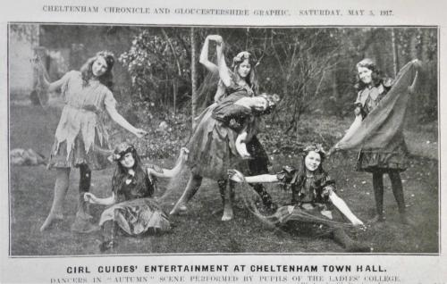 Girl Guides' entertainment at Cheltenham Town Hall, 1917