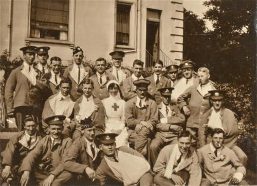 Group photo of St Martin's soldiers and nurse LF 460 16-19a