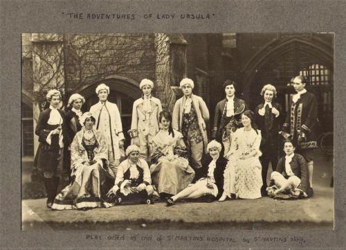 Play in aid of St. Martin's Hospital Lady Ursula cast, 1917