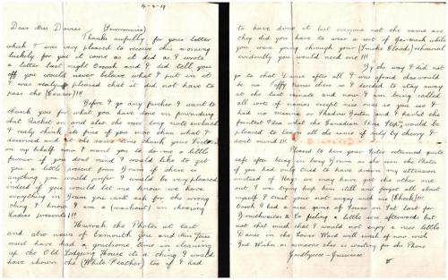 Soldier's letter 14.04.1919