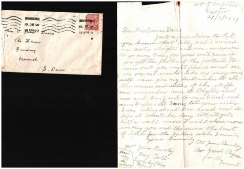 Soldier's letter 21.03.1919