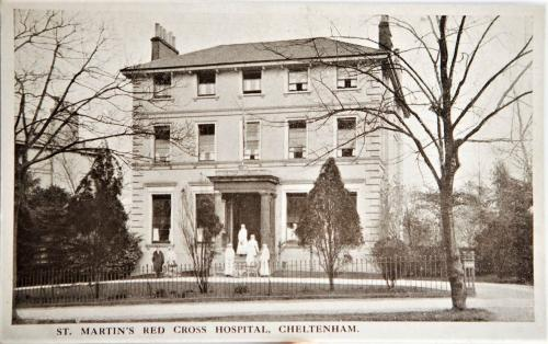St. Martin's Red Cross Hospital on Parabola Road, Cheltenham, 1916 LF460-23a