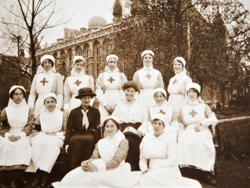 St Martin's nursing staff outside Princess Hall, 1916  LF460-6