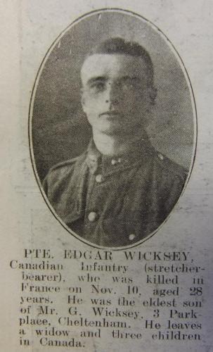 WICKSEY Edgar Gideon