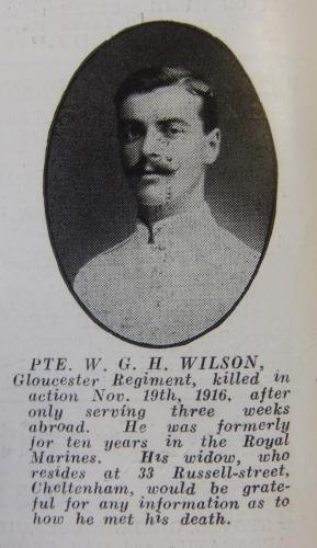 WILSON William George henry