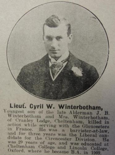 WINTERBOTHAM Cyril William